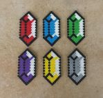 Classic Rupees - LoZ Perler Bead Sprites by MaddogsCreations