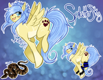 Splatterskys new ref And my Snake by MystikMeep
