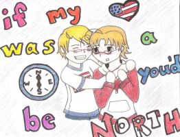 If US's heart was a compass by DemonSlayer94