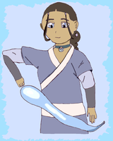 Katara Waterbending by Dnell