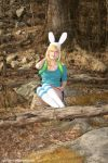 Fionna The Human:  Resting by Rocks by HarleyTheSirenxoxo