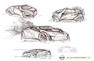 Nissan concept sketches by daviddaylee