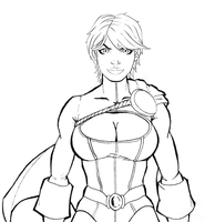 Power Girl Inks by LazerBat