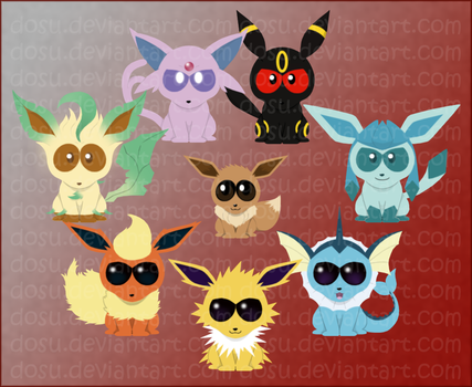 Eeveelutions - South Park Style by Dosu