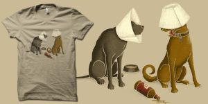 drunk dogs t-shirt by biotwist