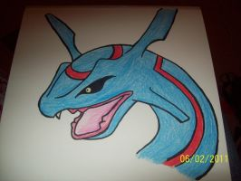 Blue Rayquaza! by SalamencePaint