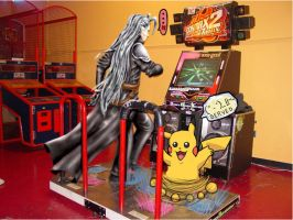 + Pikachu vs Sephiroth - DDR + by androideighteen