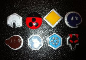 Johto Gym Badges by PKMNTrainerLarfleeze