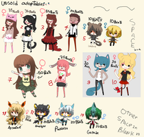 Unsold Adoptables CLOSED by Ayuki-Shura-Nyan