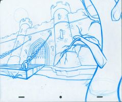 Medieval Castle Layout Lineart by animatedpunk