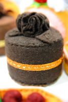Chocolate Roses Felt Cake by zetallis