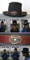 Leather Horseshoe Hatband by Windthin