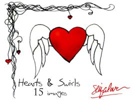 Hearts and Swirls 2 Image Pack by seiyastock