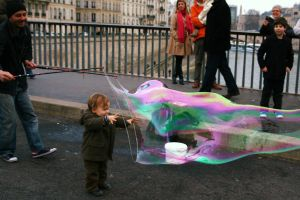 Baby and Bubble in Paris. by ValentinaF