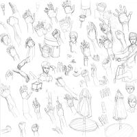 Hand sketch dump 2014 by Vimes-DA
