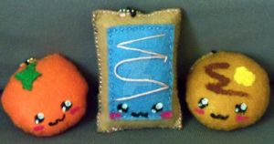 A Balanced Breakfast Keychains by moonphiredesign