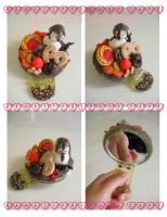 Sweets Deco Hand Mirror by kawaiifriendscafe