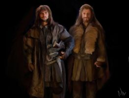 Brothers in Arms (Fili and Kili - Hobbit) by NicolaMichelle