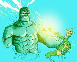 Hulk vs Electro by darrenrawlings