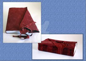 Burgundy Leather Journal by Bluelisamh