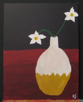 White Flowers in Vase by DiabolicalRob