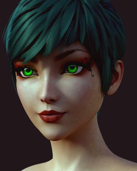 Aiko Painted by DaemonSeraph