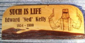 Pyrography Ned Kelly by WOODEWYTCH