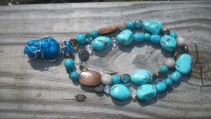 Blue Serenity necklace by WyckedDreamsDesigns