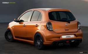 Nissan Micra 2011_rearView by yasiddesign