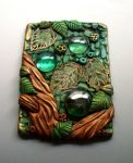 Polymer Clay ACEO Up in the Treetops by MandarinMoon