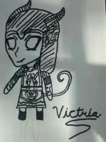 Victria Chibi(Colorless) by VictriaOfArgus