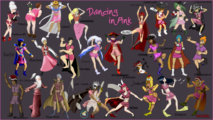 RS Artists Dancing in Pink by Laita4
