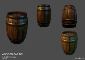 Wooden Barrel - Project Medieval Zombies by mhofever