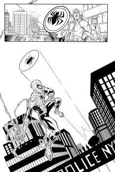 Superior Spiderman Ink page one by SWAVE18