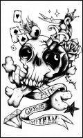 Skull design tattoo by symbolofsoul