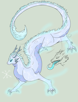 Winter dragon adop auction [closed] by Finstis-Adoptables