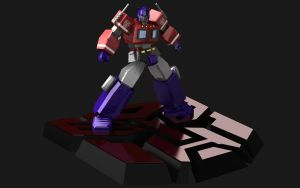 Optimus Prime3D wide wallpaper by palp