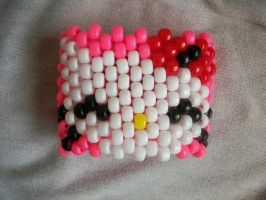 Hello Kitty Kandi Cuff by BoldKreations