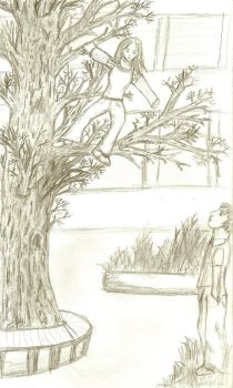 girl in a tree by Narnia-Rose