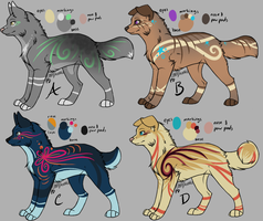 Assorted Canine Designs Batch 8 by ChamberedNoctilus