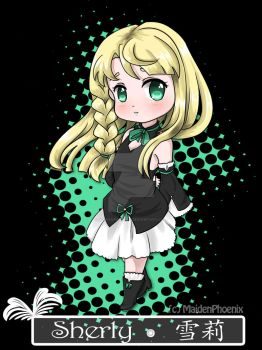 UTAU Chibi Sherly Official Art by MaidenPhoenix