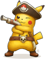 Captain Pikachu by Ry-Spirit