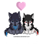 Wolf couple plushie by LeoKatana