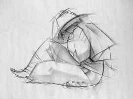 Gesture Drawing - Rest by moth-eatn