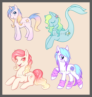Pony Commission Samples by Kavaeka