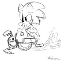 Sonic and Motobug .:W.I.P:. by fansonic