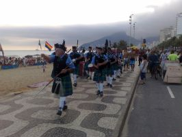 Scottish Band in Ipanema by TheDrifterWithin