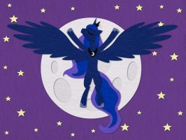 Princess Luna Rising the Moon by aha-mccoy