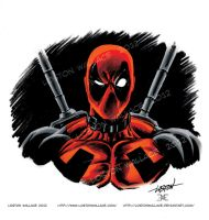 Deadpool Headshot in Color by LostonWallace