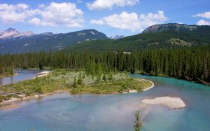 Bow River in Banff by BeachGirlNikita